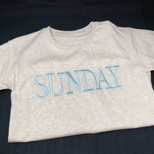 Tops - Embroidered Days Of The Week T-Shirt Sunday M